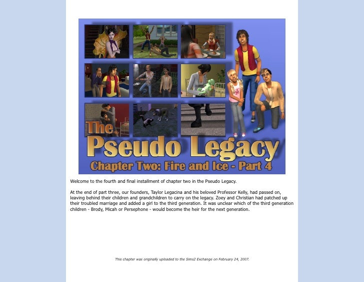 Welcome to the fourth and final installment of chapter two in the Pseudo Legacy.  At the end of part three, our founders, ...