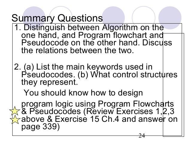 Pseudocode algorithim flowchart