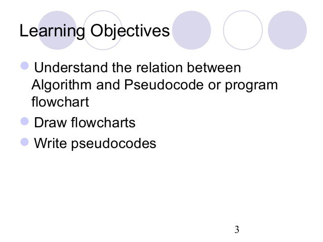 how to write a program in pseudocode