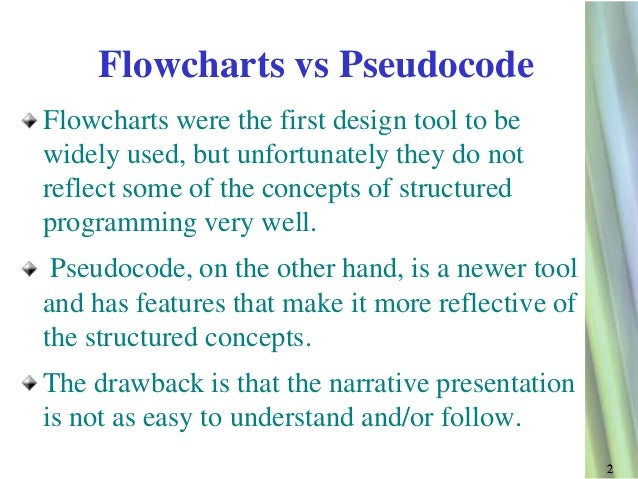 what is pseudocode Before designing an algorithm it is important to first understand what the problem is algorithms can be designed using pseudocode or a flowchart, and the standard.