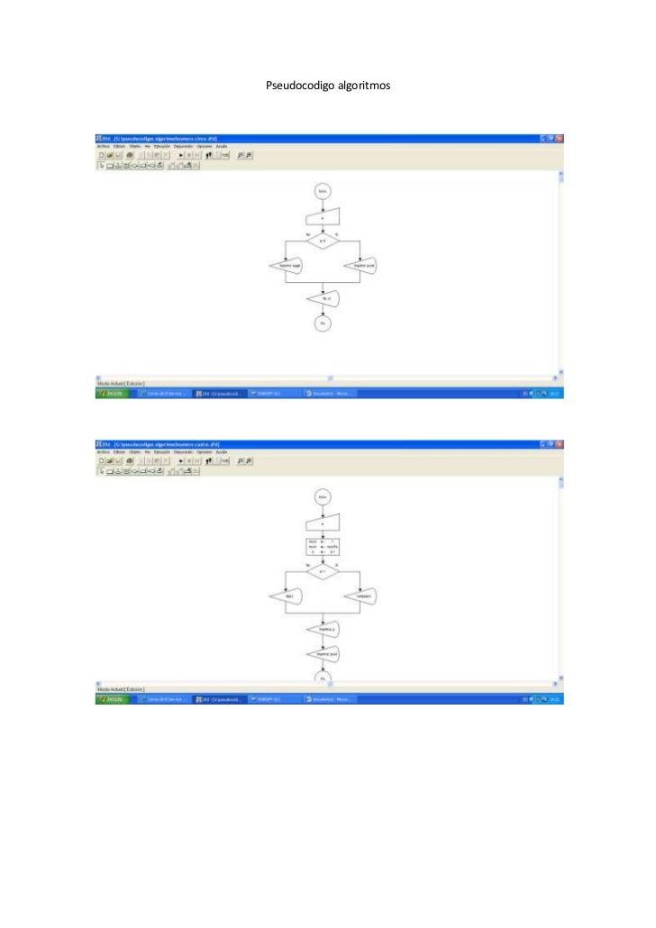 Pseudocodigo algoritmos<br />