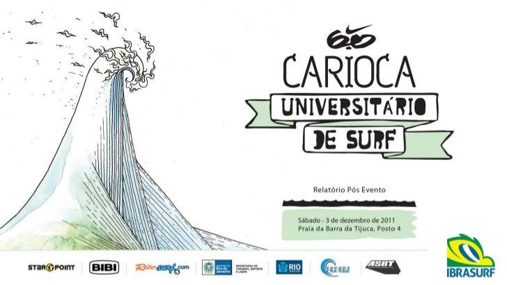 APRESENTAÇÃONike 6.0 Carioca Universitário de SurfData: 03/12/2011Local: Barra da Tijuca - Posto 4O evento foi marcado por...