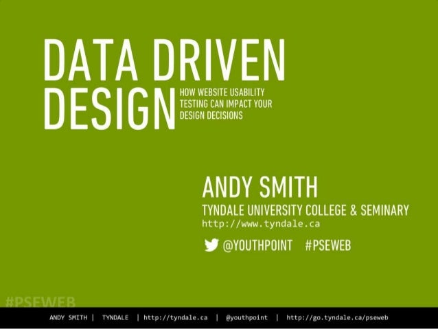 Data Driven Design:  How Website Usability Testing Can Impact Your Design Decisions