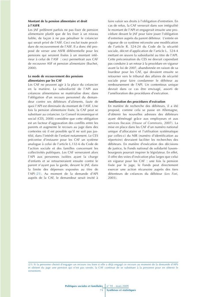 L Allocation De Parent Isole Et Les Obligations Alimentaires Les Co