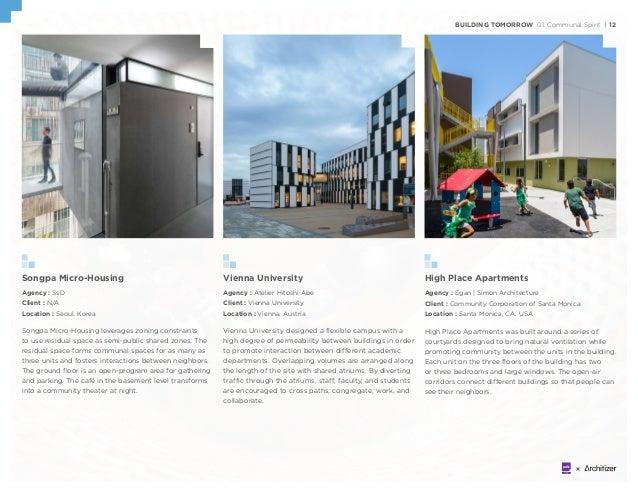 BUILDING TOMORROW 01. Communal Spirit | 12 Songpa Micro-Housing Agency : SsD Client : N/A Location : Seoul. Korea Songpa M...