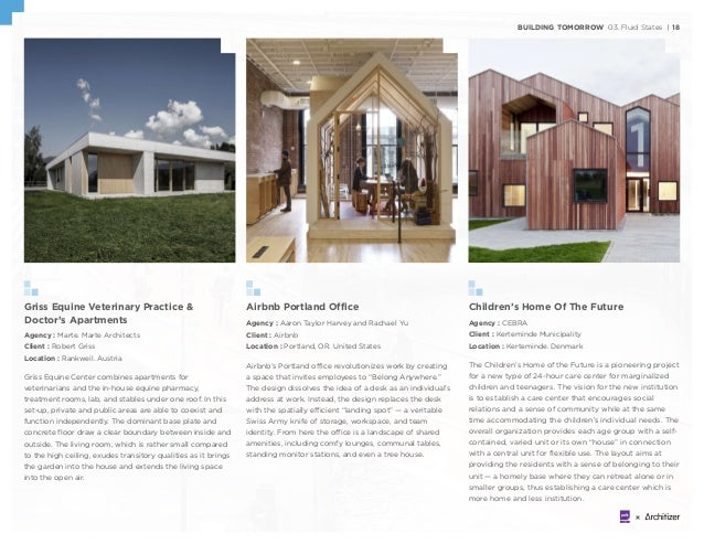 BUILDING TOMORROW 03. Fluid States | 18 Griss Equine Veterinary Practice & Doctor's Apartments Agency : Marte. Marte Archi...