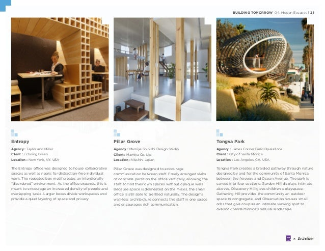 BUILDING TOMORROW 04. Hidden Escapes | 21 Entropy Agency : Taylor and Miller Client : Echoing Green Location : New York, N...