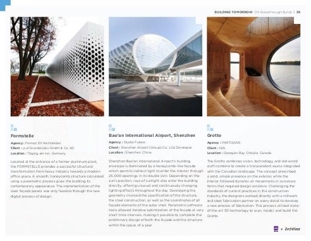 BUILDING TOMORROW 09. Breakthrough Builds | 36 Formstelle Agency : Format Elf Architekten Client : jc.d Grundstücks GmbH &...