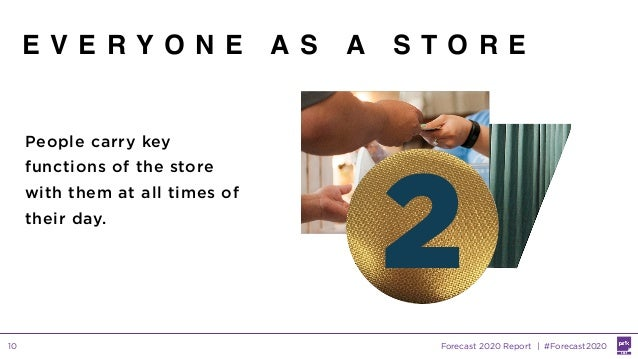 Forecast 2020 Report | #Forecast202010 E V E R Y O N E A S A S T O R E People carry key functions of the store with them a...