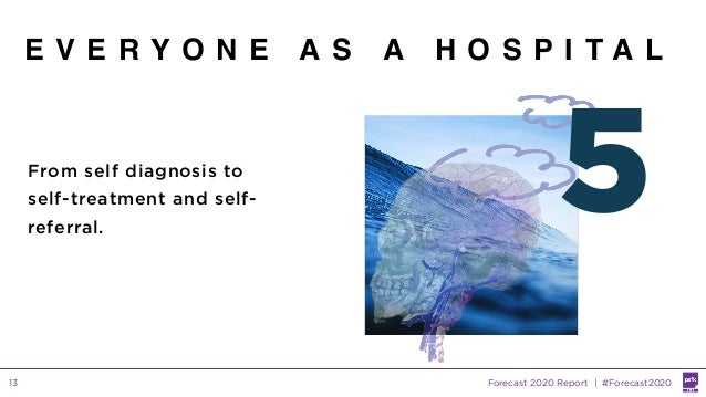 Forecast 2020 Report | #Forecast202013 E V E R Y O N E A S A H O S P I T A L 5From self diagnosis to self-treatment and se...