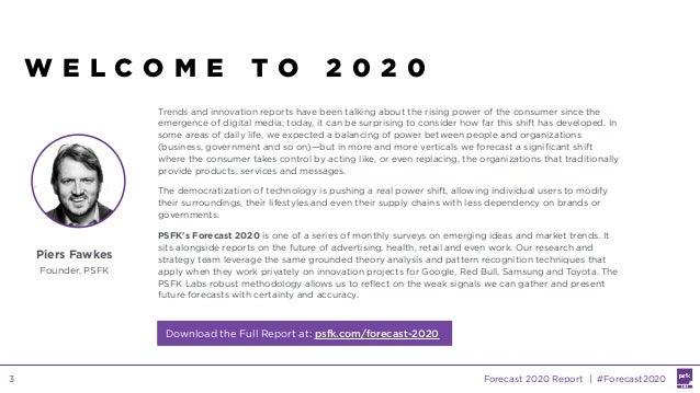 PSFK Forecast 2020 Slide 3