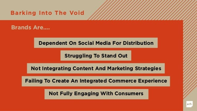Barking Into The Void Dependent On Social Media For Distribution Struggling To Stand Out Not Integrating Content And Marke...