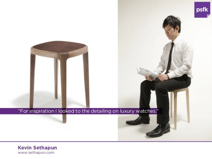 """""""For inspiration I looked to the detailing on luxury watches.""""Kevin Sethapunwww.sethapun.com"""
