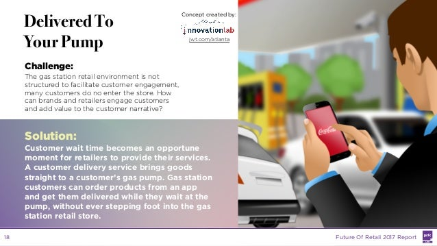 LABS @PSFK #FutureofRetail LABS Delivered To Your Pump Challenge: The gas station retail environment is not structured to ...