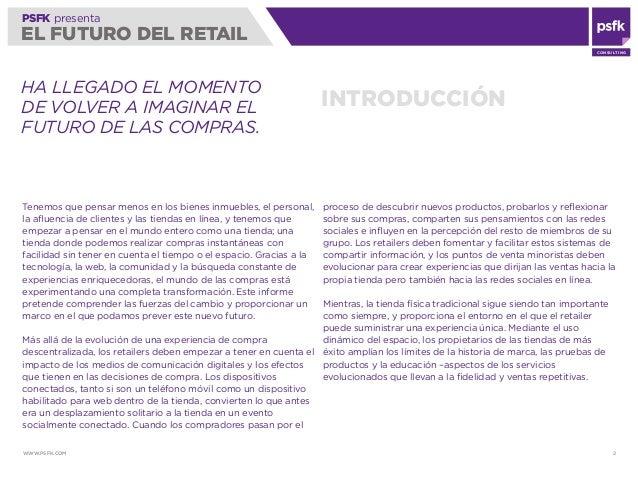 PSFK Futuro del Retail   2010 Slide 2