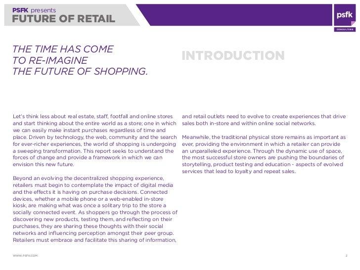 PSFK's Future of Retail Report 2010 Slide 2