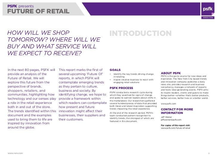 PSFK's Future of Retail Report 2010 Slide 3