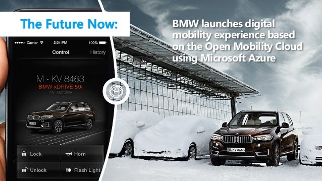 BMW launches digital mobility experience based on the Open Mobility Cloud using Microsoft Azure The Future Now: