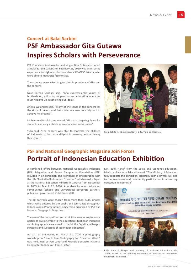 Putera Sampoerna Foundation Report Quarter 1 2010