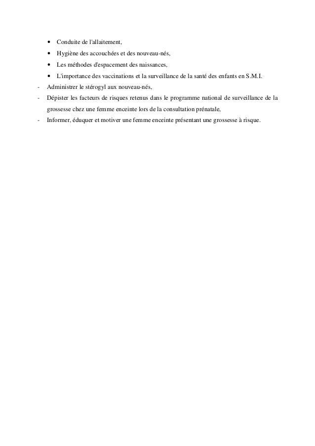 Programme de surveillance de la grossesse accouchement  Slide 3