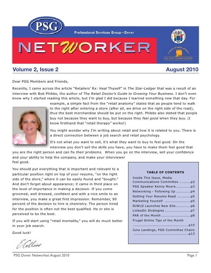 Volume 2, Issue 2                                                                                August 2010  Dear PSG Me...