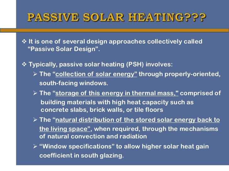 Active Solar Heating   Department of Energy  Passive Solar Material