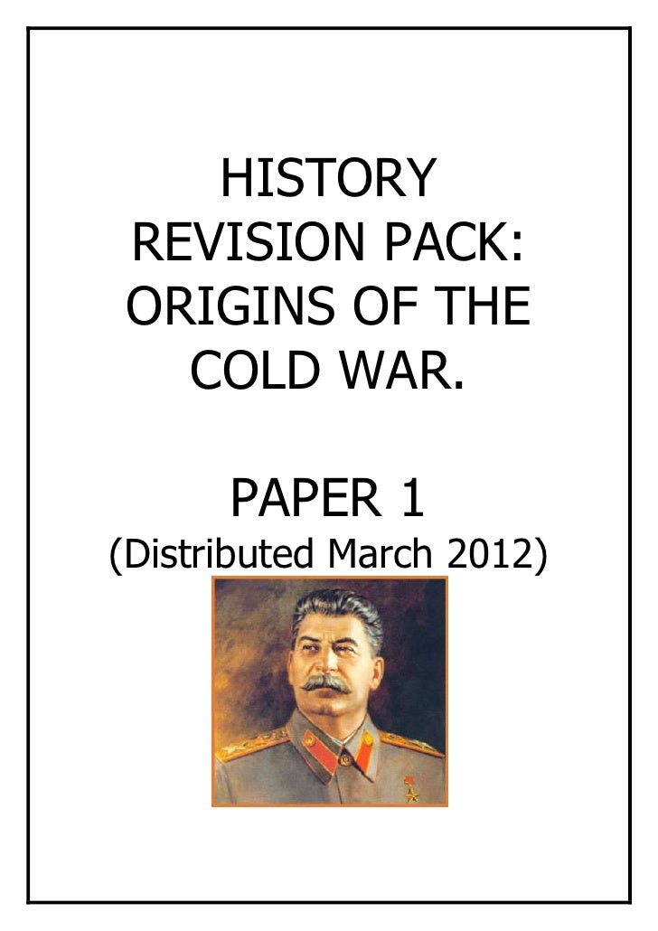 cold war revision word Cold war research papers chronicle the use of game theory and the causes of the cold war between russia and the united states this is a topic suggestion on the cold war from paper masters use this topic or order a custom research paper, written exactly how you need it to be.