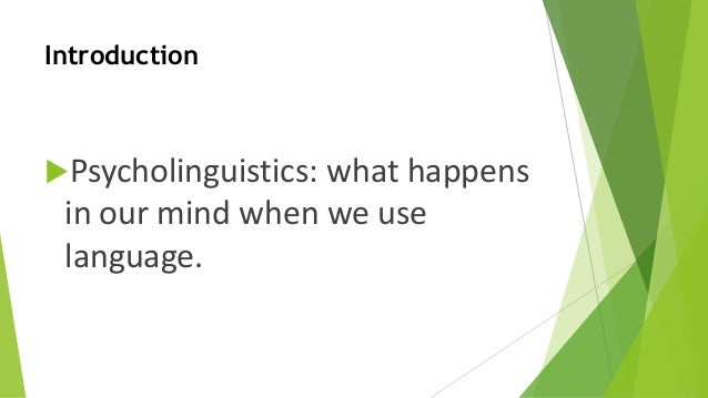 psycholinguistics in schools