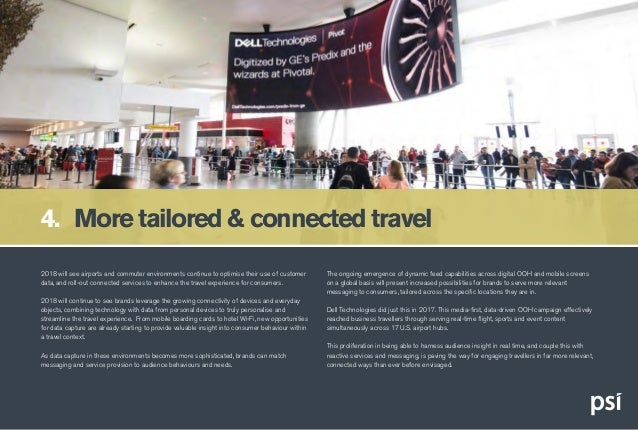 2018 will see airports and commuter environments continue to optimise their use of customer data, and roll-out connected s...