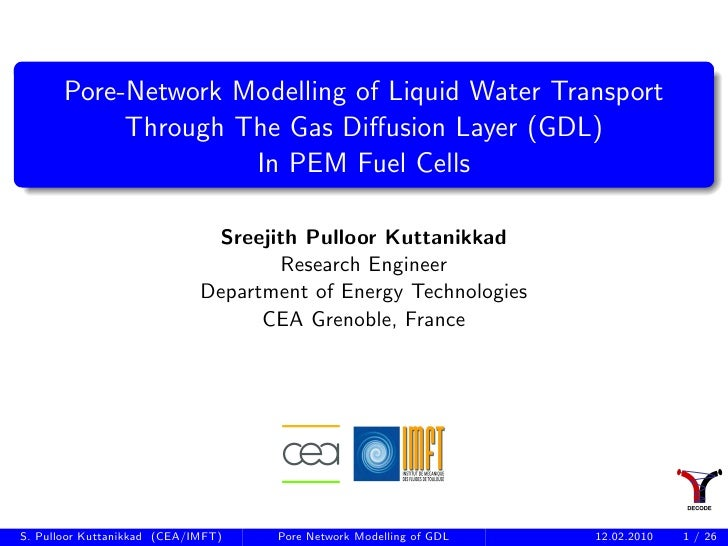 Pore-network simulation of GDL in PEM Fuel cells