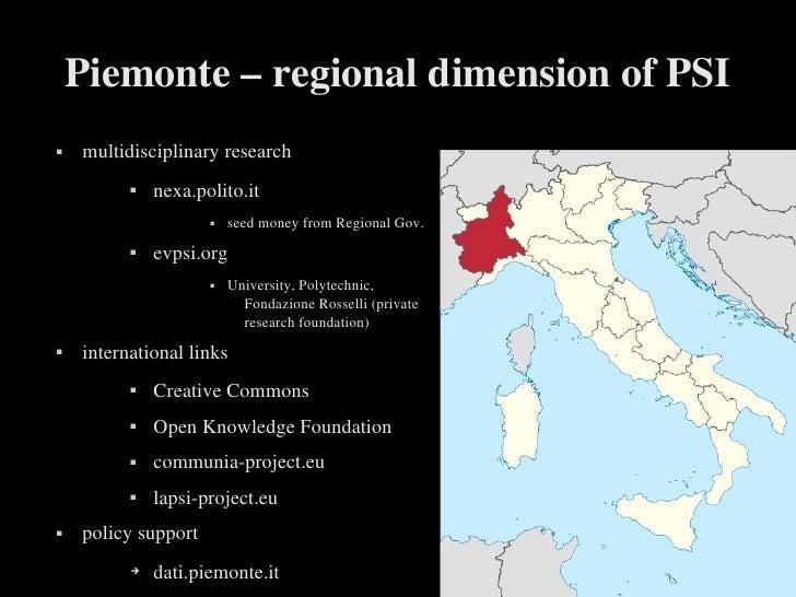 Piemonte–regionaldimensionofPSI   multidisciplinaryresearch                 nexa.polito.it                        ...
