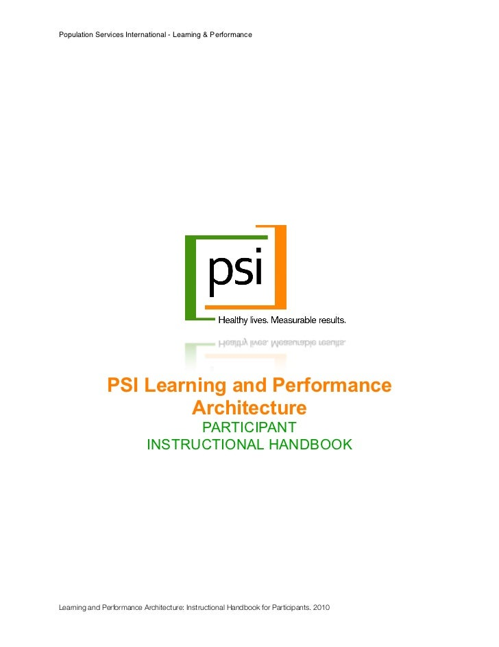 Population Services International - Learning & Performance               PSI Learning and Performance                     ...