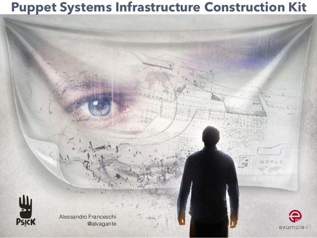 Puppet Systems Infrastructure Construction Kit Alessandro Franceschi @alvagante