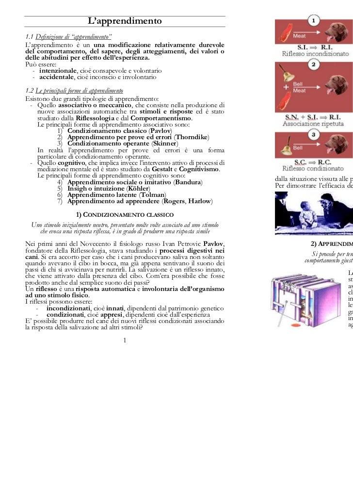 L'apprendimento                                                                              Uno stimolo neutro (ad esempi...