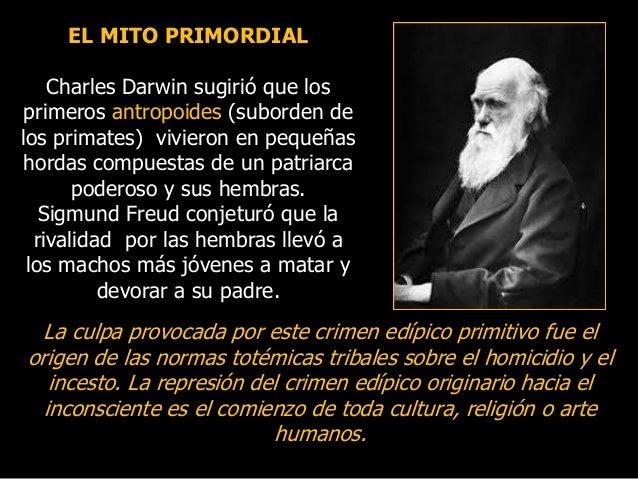 EL MITO PRIMORDIAL Charles Darwin sugirió que los primeros antropoides (suborden de los primates) vivieron en pequeñas hor...