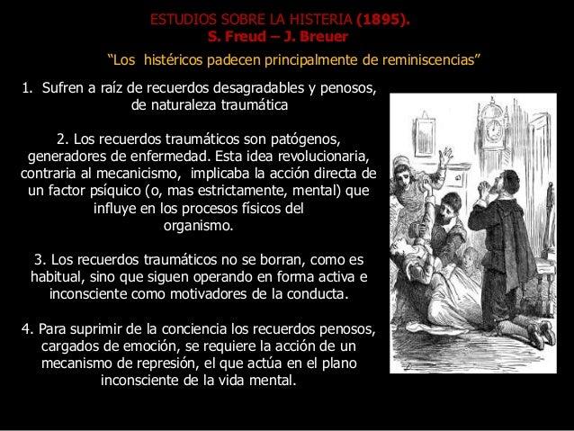 """ESTUDIOS SOBRE LA HISTERIA (1895). S. Freud – J. Breuer """"Los histéricos padecen principalmente de reminiscencias"""" 1. Sufre..."""