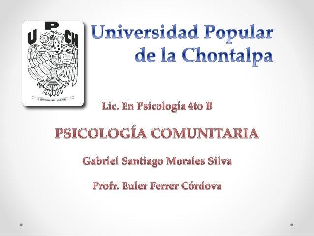 """Paradigma de la psicología comunitaria y su fundamentación ética y relacional """"Sobre modelo y paradigmas"""" Surge casi al mi..."""