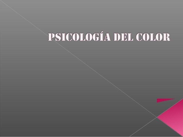 La expresión de los colores desde el punto de vista psicológico.