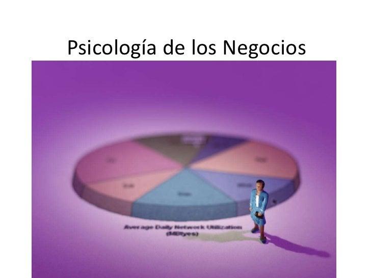 Psicología de los Negocios<br />