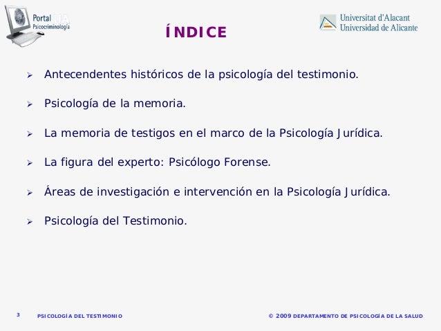 Psicología del testimonio.