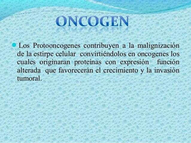 ONCOGENES DOMINANTES Son oncogenes que solo precisan estar mutados en un solo alelo, para que se produzca la sobreexpresió...