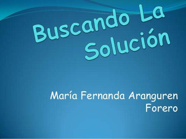 María Fernanda Aranguren Forero