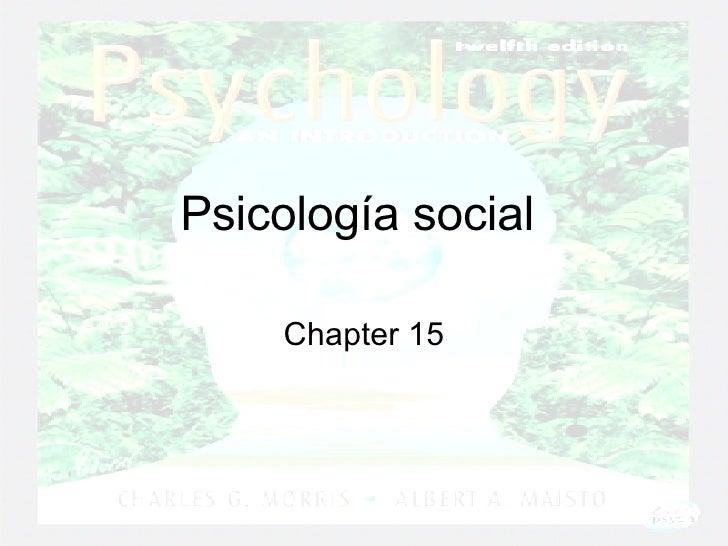Psicología social   Chapter 15