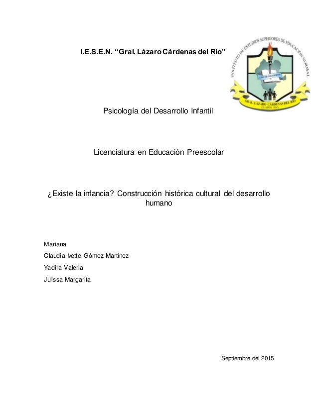 """I.E.S.E.N. """"Gral.Lázaro Cárdenasdel Rio"""" Psicología del Desarrollo Infantil Licenciatura en Educación Preescolar ¿Existe l..."""
