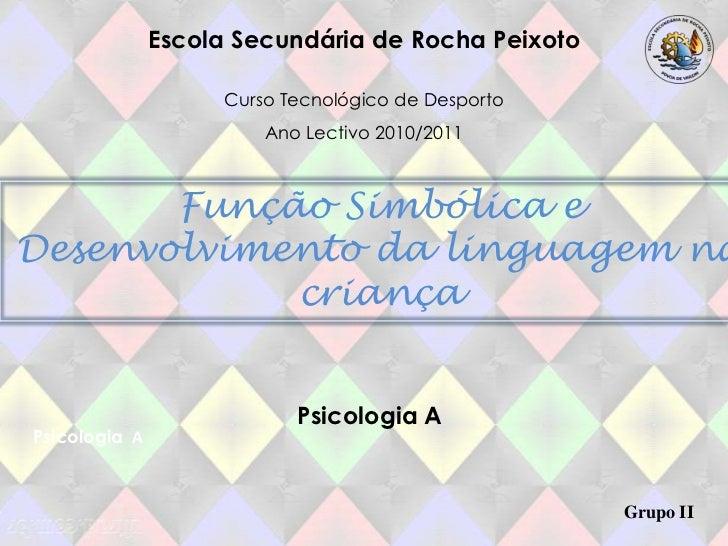 Escola Secundária de Rocha Peixoto<br />Curso Tecnológico de Desporto <br />Ano Lectivo 2010/2011<br />Função Simbólica e ...