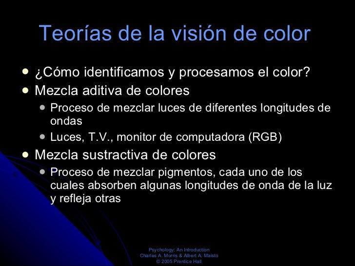 Teorías de la visión de color  <ul><li>¿Cómo identificamos y procesamos el color? </li></ul><ul><li>Mezcla aditiva de colo...