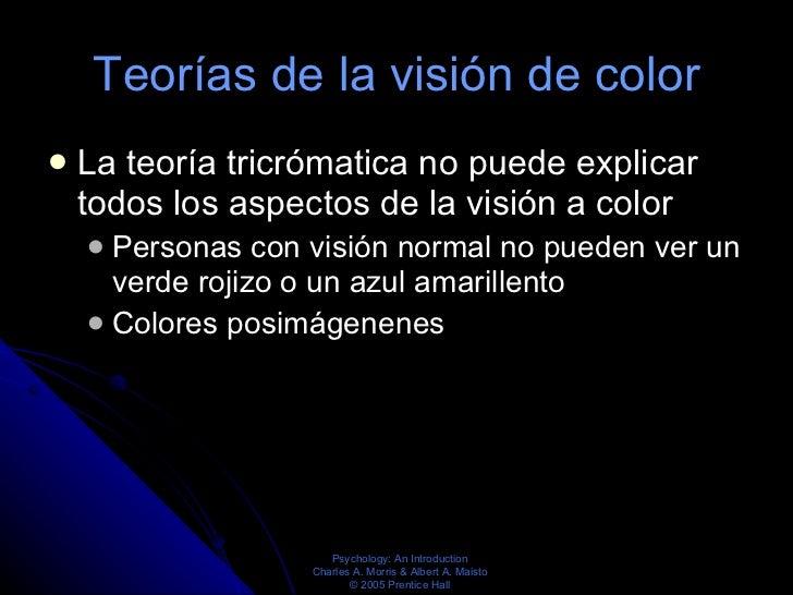 Teorías de la visión de color <ul><li>La teoría tricrómatica no puede explicar todos los aspectos de la visión a color </l...