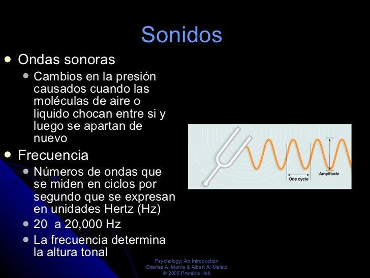 Sonidos   <ul><li>Ondas sonoras </li></ul><ul><ul><li>Cambios en la presión causados cuando las moléculas de aire o liquid...