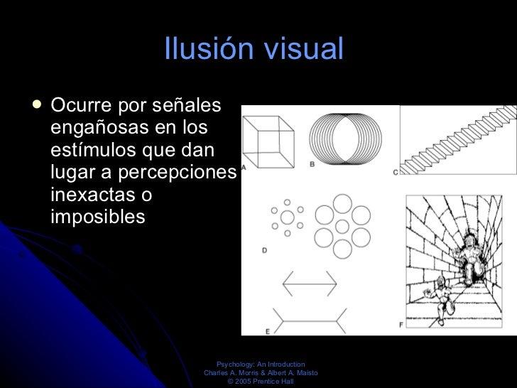 Ilusión visual  <ul><li>Ocurre por señales engañosas en los estímulos que dan lugar a percepciones inexactas o imposibles ...