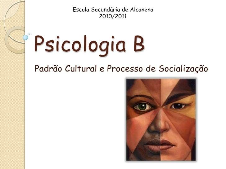 Escola Secundária de Alcanena                  2010/2011Psicologia BPadrão Cultural e Processo de Socialização